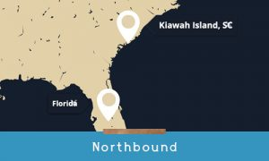 traveling northbound to kiawah