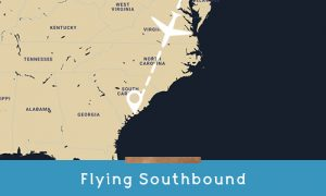 flying southbound to kiawah