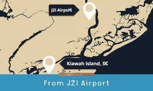 get to kiawah from jzi airport
