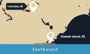 driving to kiawah eastbound