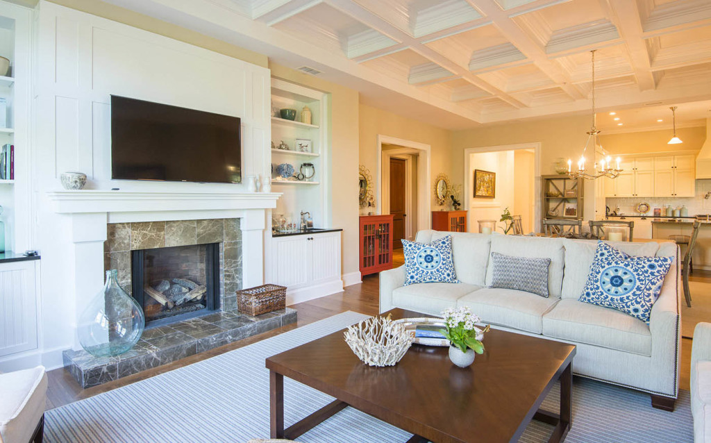 Exquisite interiors include walnut flooring, handsome trims and moldings,  wainscoting and beadboard accents,