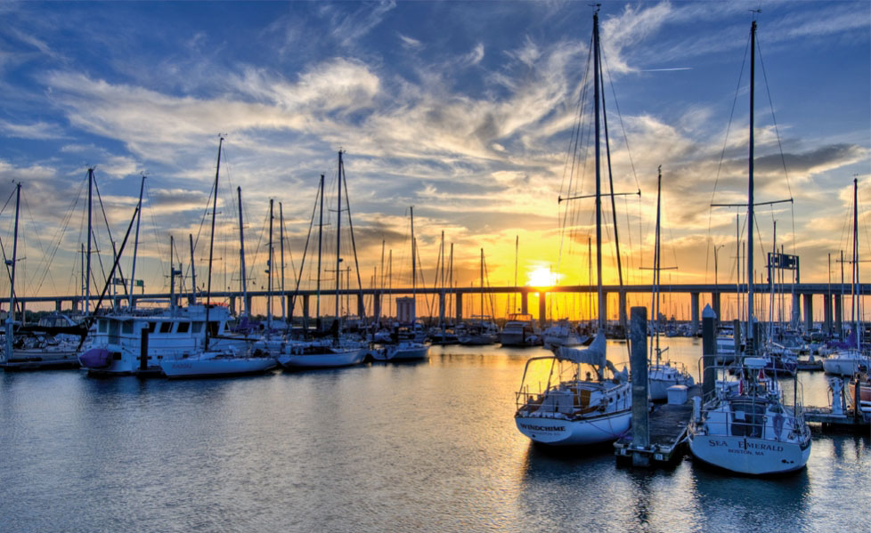 Charleston Marina at Sunset