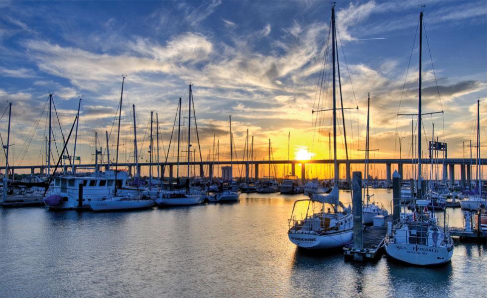 Charleston Marina at Sunset