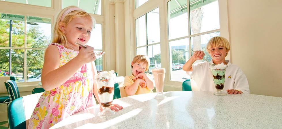 Eating ice cream on Kiawah Island