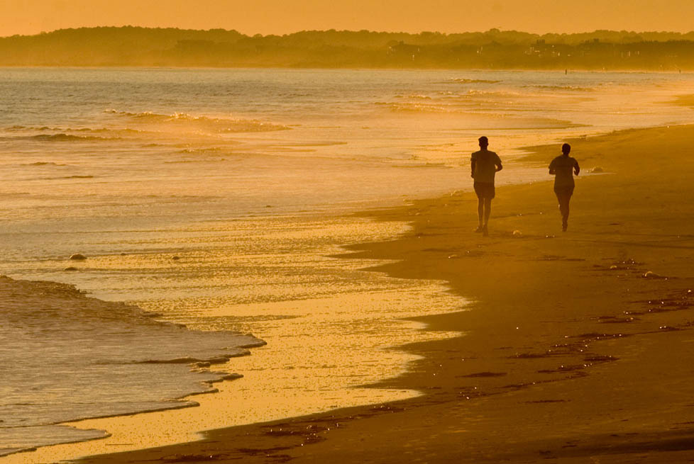 Jogging on Kiawah Island