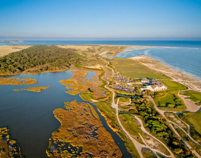 Aerial View of Kiawah Island