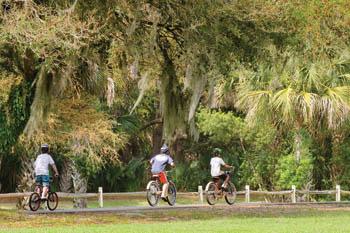 Riding bikes on Kiawah