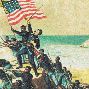 Union troops illustration
