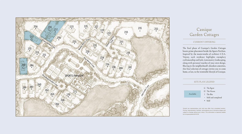 Cassique Garden Cottages site plan