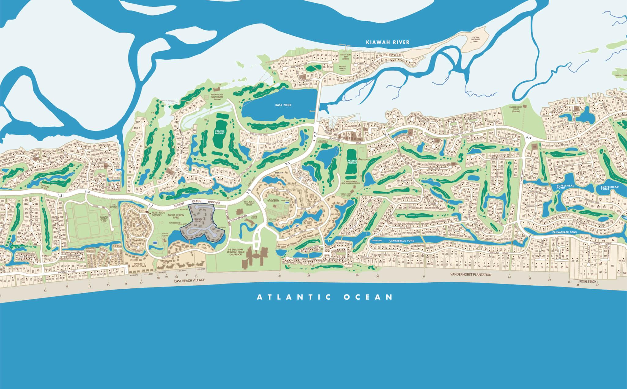 Kiawah Island Map Parkside Villas | Kiawah Island Real Estate