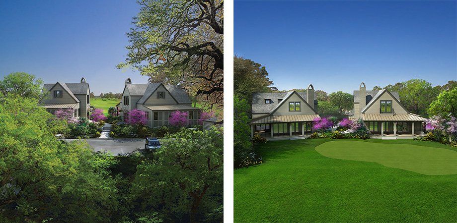 Renderings of Cassique Golf Cottages