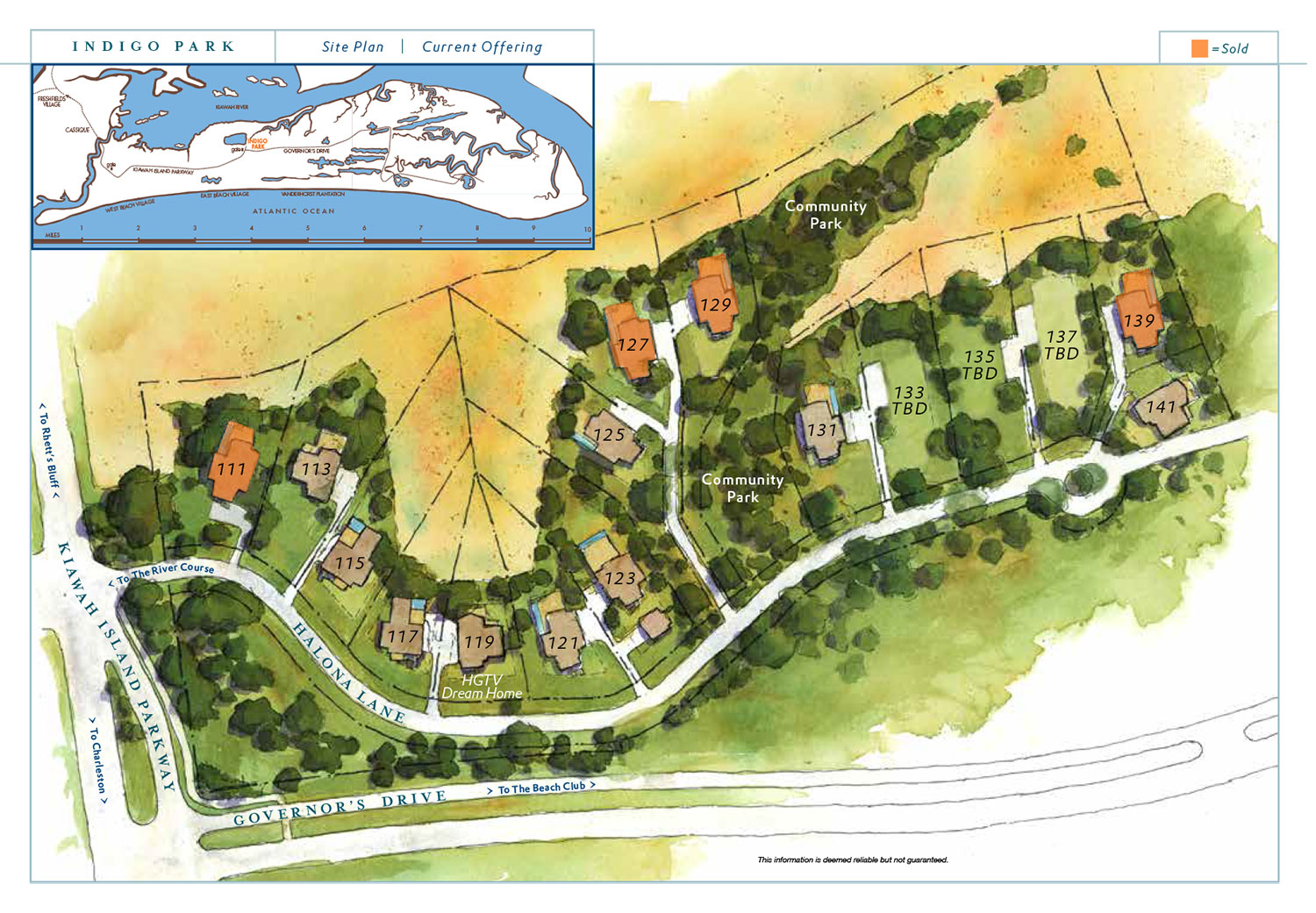 Indigo Park site plan on Kiawah Island, SC