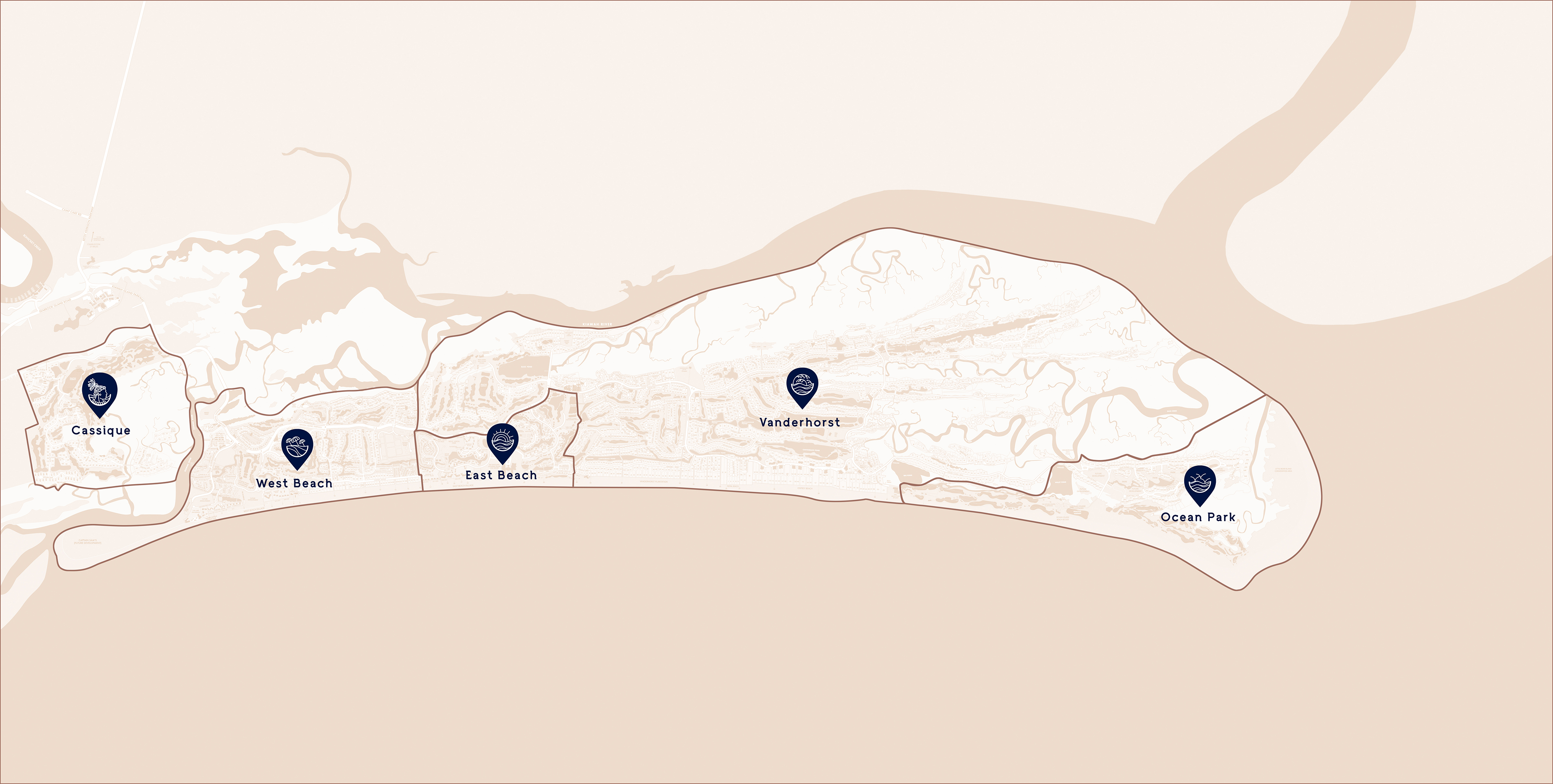 Click on the map to explore the island.