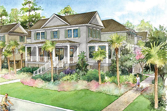 RiverView Townhome Rendering