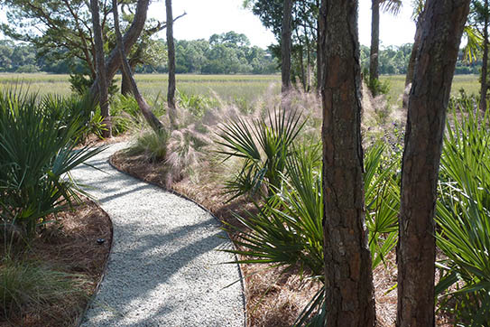 A low-maintenance landscape design complements the sweep of marsh grass in this view. | All photos on this page courtesy of Wertimer & Associates: Wes Fredsell, photographer
