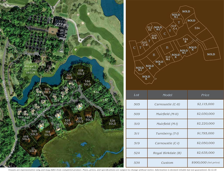 Cassique Clubhouse Village site plan