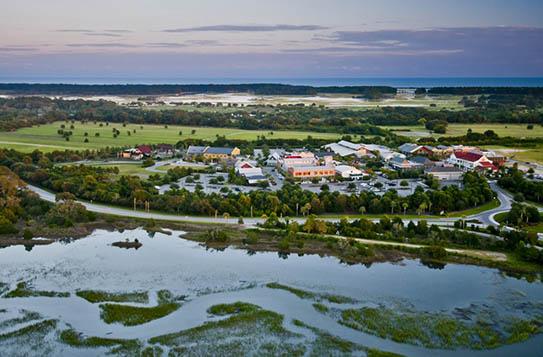 Aerial view of Freshfields Village