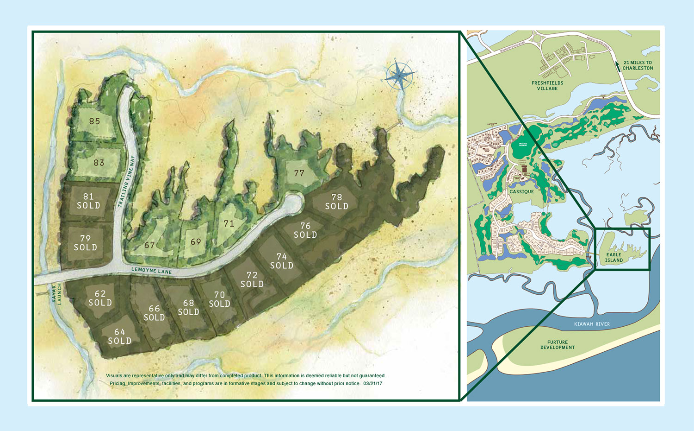 Eagle Island site plan on Kiawah Island, SC