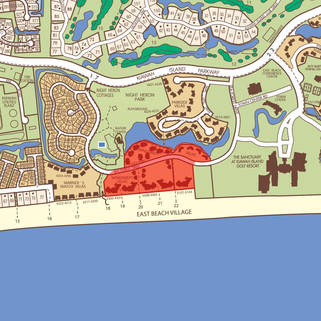 Kiawah Island Villas Map